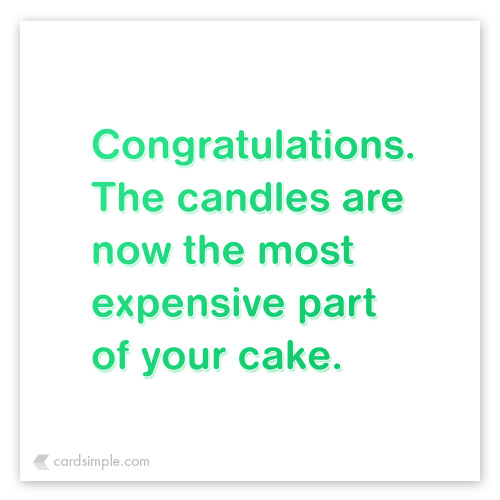 Those candles really start to add up...