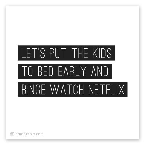 Sometimes Netflix > Sex