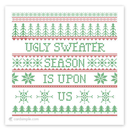 For some ugly sweaters
