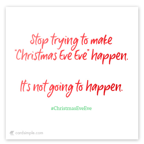 stop trying to make it happen.