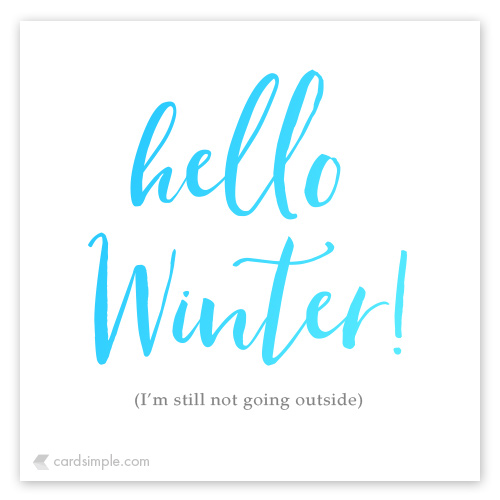 My favorite part of winter is the end