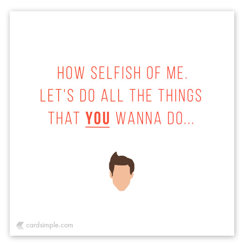 Let's do all the things you want to do...