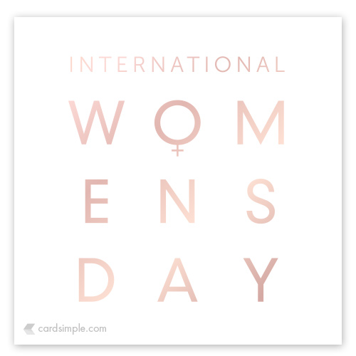 Shout out to all the Women across the globe today. Keep doing your thing.