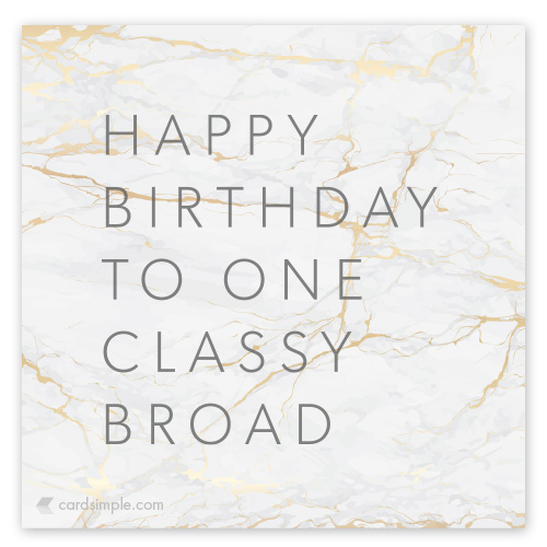 You can tell its a classy free card by the marble...