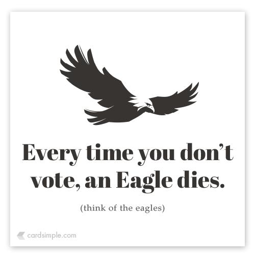 An eagle dies